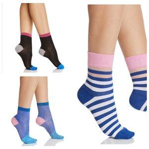 3 pairs of Happy Socks Dress Socks Blue Pink Black
